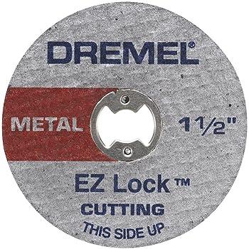 Dremel EZ456, 1 1/2-Inch (38.1 mm) Wheel Diameter, EZ - Lock Fiberglass Reinforced Cut-off Wheels, Rotary Tool Cutting Disc for metal cutting, 5 pieces