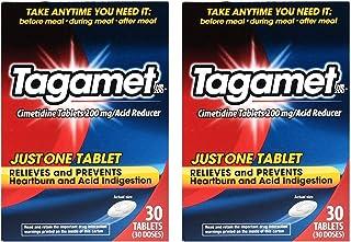 Tagamet Acid Reducer, 200mg Cimetidine Tablets, 30 Count Each (2 Pack)