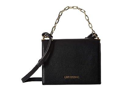 LOVE Moschino Luminous Chain Crossbody Bag (Black) Handbags