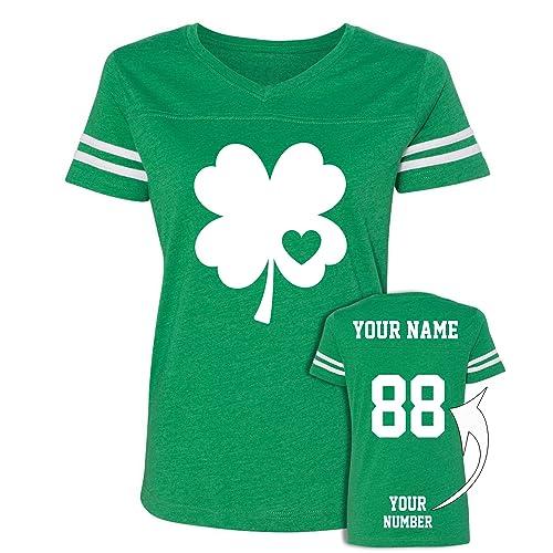 65a56e28 Custom Jersey Style St Patrick's Day T Shirts - Saint Pattys Tee & Irish  Outfits Green