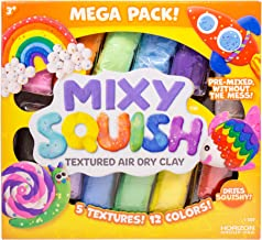Mixy Squish Deluxe Pack by Horizon Group USA,Includes 20oz. of Textured Air Dry Clay,14 Sculpting Tools & 3 Double Sided M...