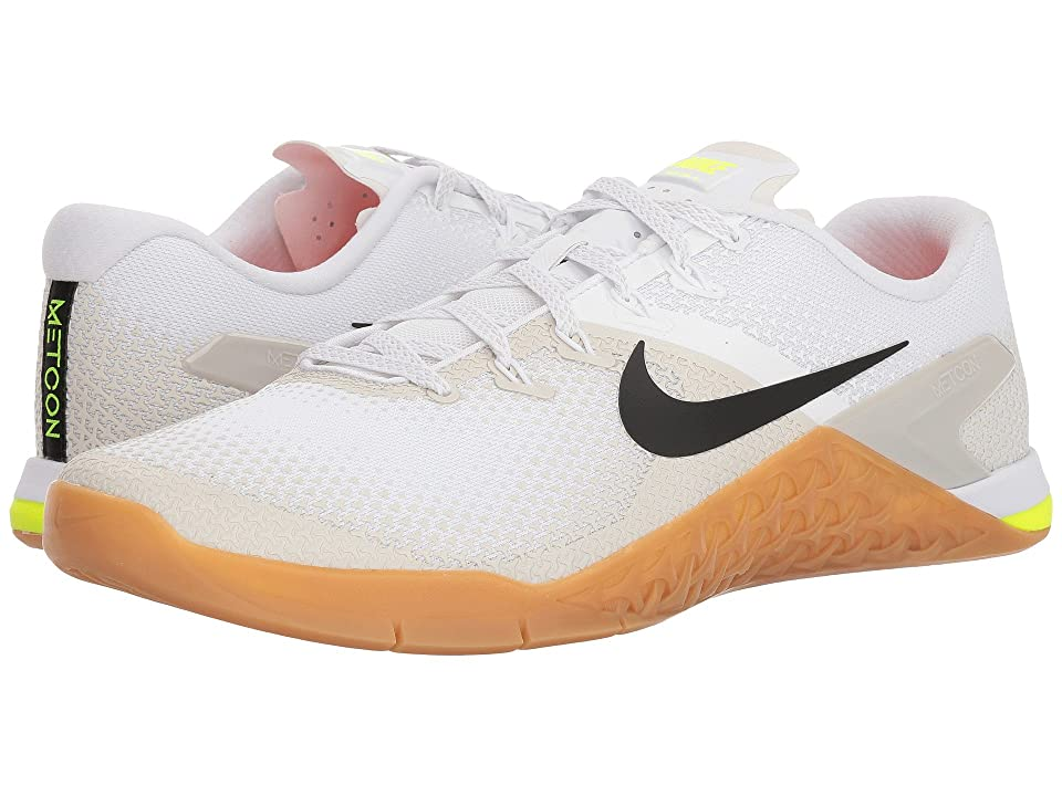 Nike Metcon 4 (White/Black/Light Bone/Gum Medium Brown) Men