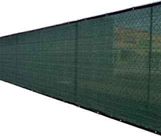 Fence4ever 6' x 50' 3rd Gen Olive Dark Green Fence Privacy Screen Windscreen Shade Fabric Mesh Netting Tarp (Aluminum Grommets)