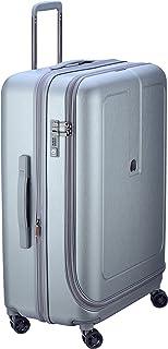 Delsey Paris Grenelle 76 cm 4 Double Wheels Expandable Trolley Suitcase (Hardside), Platinum (00203982111)