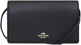 34ada299746804 Coach Pebbled Leather Foldover Clutch Crossbody Bag