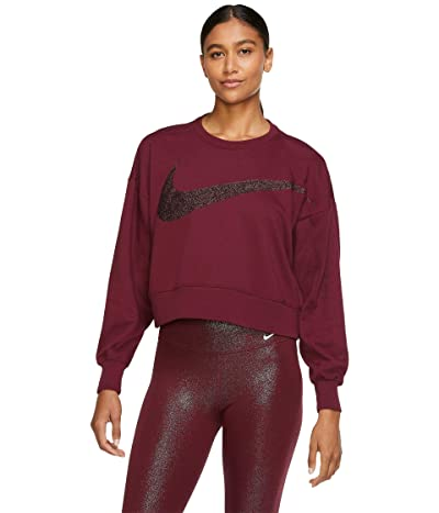 Nike Dry Get Fit Fleece C Pp1 Sparkle (Dark Beetroot/White) Women