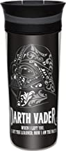 Zak! Designs Insulated Travel Tumbler Featuring Classic Darth Vader Graphics from Lucas Films, BPA-Free and Break-Resistant Plastic, Double Wall Construction and Leak-Proof Slide Lid, 16 oz. Capacity
