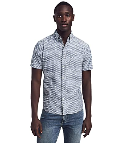 Faherty Short Sleeve Playa Shirt (Fish Scale Redux) Men