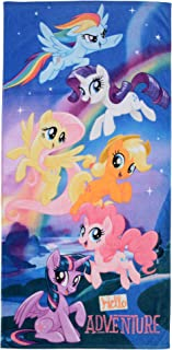 "Franco Kids Super Soft Cotton Beach Towel, 28"" x 58"", My My Little Pony Blue"