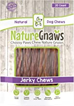 Nature Gnaws Beef Jerky Chews - 100% Natural Beef Sticks for Small Dogs