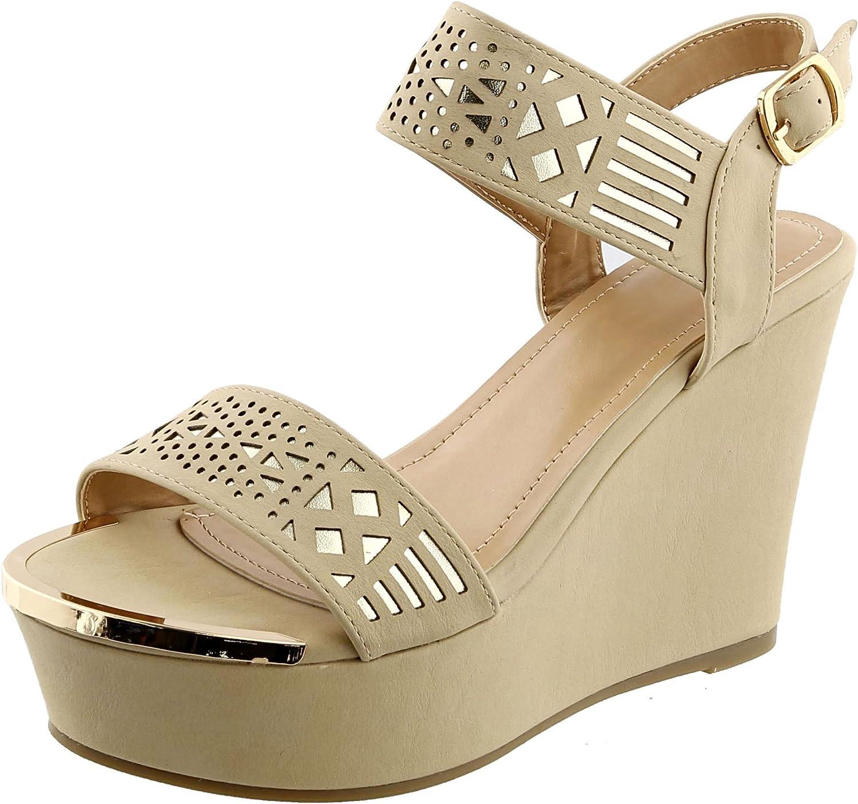 ReseNut bröllop Bridal Special Elegant Strappy Platform Wedge Sandals skor skor skor for kvinnor (Assorterade färger)  den mest fashionabla