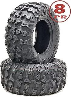 Set of 2 Premium FREE COUNTRY ATV/UTV Tires 25x10-12 / 8PR w/Side Scuff Guard