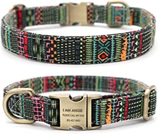 thick personalized dog collars