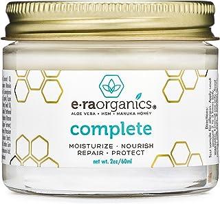 Natural & Organic Face Moisturizer Cream - Extra Nourishing & Hydrating 10-In-1 Daily Facial Cream with Aloe Vera, Manuka Honey, Coconut Oil, Cocoa Butter For Oily, Dry, Sensitive Skin Era-Organics