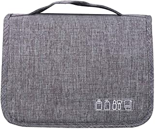 Premium Hanging Toiletry Bag Travel Kit for Men and Women Leak Proof   Clear Pockets   Detachable Compartment   Makeup Bag   Cosmetic Bag (Gray)