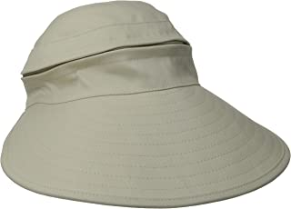 Physician Endorsed Women's Naples Cotton Packable Cap & Visor Sun Hat, Rated UPF 50+ for Max Sun Protection, Khaki, One Size