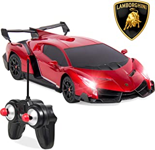 Best Choice Products 1/24 Officially Licensed RC Lamborghini Veneno Sport Racing Car w/ 27MHz Remote Control - Red