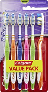 Colgate ZigZag Deep Interdental Clean Toothbrush Medium Value 6 Pack