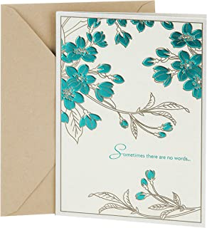 DaySpring Religious Sympathy Card (Leaf Pattern)