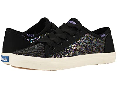 Keds Kids Kickstart Seasonal (Little Kid/Big Kid) (Black Sparkle) Girl