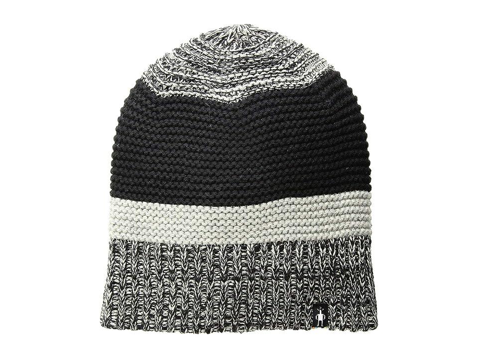 Smartwool Winter Valley Stripe Beanie (Black/Light Gray Donegal) Beanies