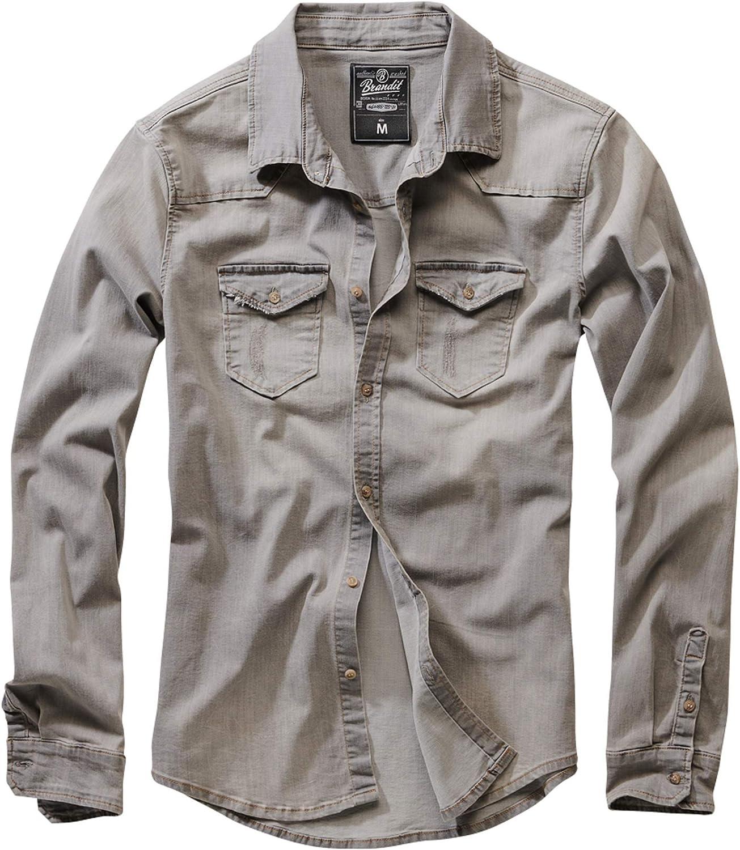 Brandit 5☆好評 大注目 Men's Riley Gray Denim Shirt