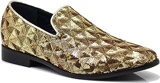 Enzo Romeo SPK15 Men's Vintage Sequence Dress Loafers Slip On Fashion Shoes Classic Tuxedo Dress Shoes