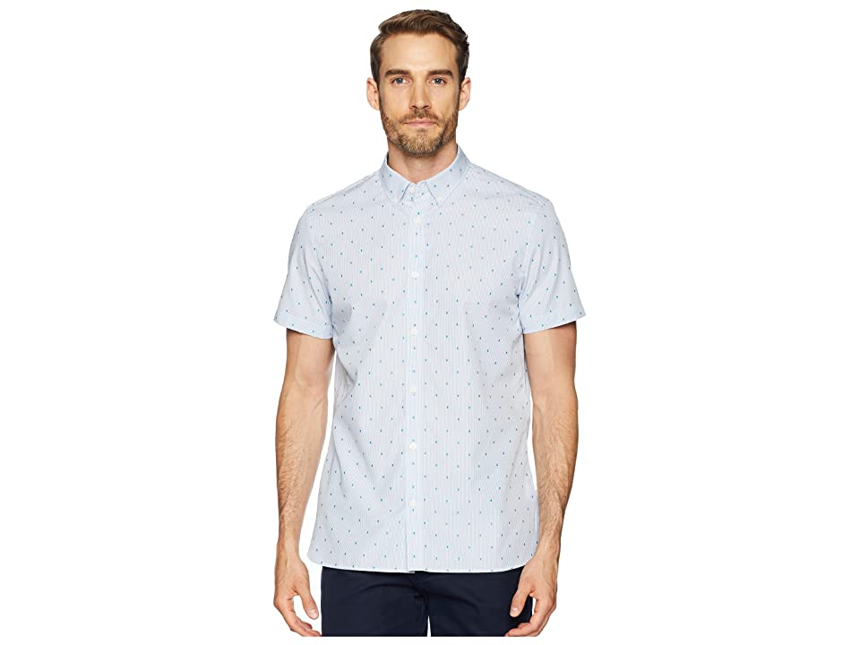 Calvin Klein Dot Dobby Button Down Shirt (Clear Sky) Men
