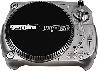 Gemini TT-1100USB Professional Audio Manual Belt-Drive Classic USB Connectivity DJ Turntable with Adjustable Counter Weigh...
