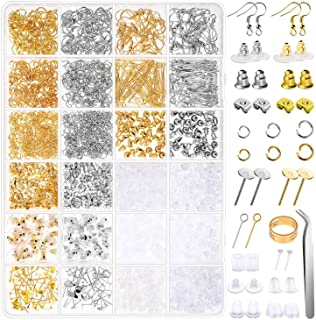 Earring Making Kit, Anezus 2320Pcs Earring Making Supplies Kit with Earring Hooks Findings, Earring Backs Posts, Jump Ring...