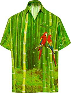 LA LEELA   Funky Camisa Hawaiana   Señores   XS-7XL   Manga Corta   Bolsillo Delantero   impresión De Hawaii   Playa Playa...