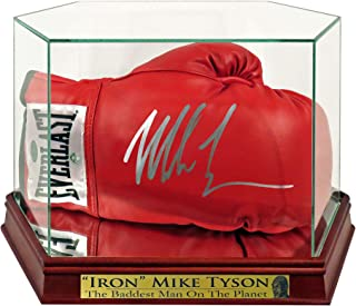 Mike Tyson Autographed Boxing Glove w/Custom Case