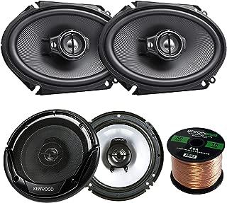 2 Pair Car Speaker Package of 2X Kenwood KFC-C6895PS 720-Watt 6x8 Inch 3-Way Black Coaxial Speakers + 2X KFC-1665S 6 1/2