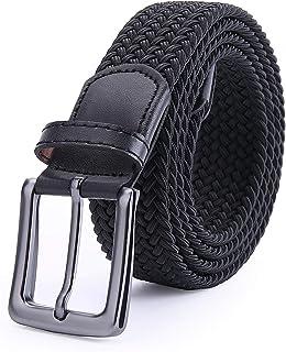 Stretch Woven Belt Jean Belt Canvas Belts for Men Women With Gift Box