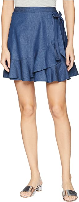 Bow Front Flirty Wrap Mini Skirt
