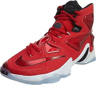 Men's Lebron XIII Unvrsty Red/White/Blk/Lsr Orng Basketball Shoe - 8.5 D(M) US