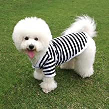 QiCheng&LYS Dog Striped T-Shirt Pet Cute Vest Short Sleeves Summer Apparel for Small Dog Boy and Girl