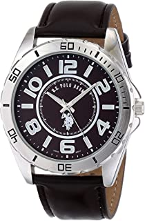 U.S. Polo Assn. Classic Men's USC50003 Watch With Brown Leather Band