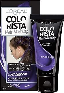 L'oreal Paris Hair Color Colorista Makeup 1-day for Brunettes, Purple 50, 1 Fl Oz