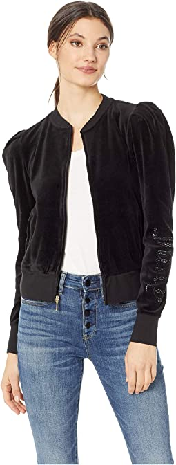 Velour Puff Sleeve Jacket