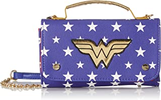Bioworld Merchandising - Mini Sac À Main Dc Comics Wonder Woman, Carteras de mano Mujer, Azul (Bleu), 4x11x18 cm (W x H L)