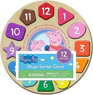 Peppa Pig Shape Sorter Clock Puzzle (12Piece)