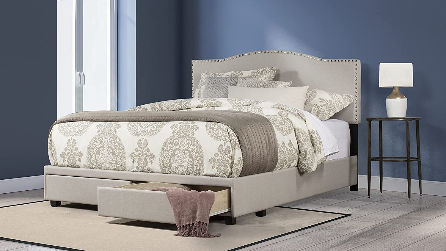 Free Shipping Cheap Bargain Gift Hillsdale Kiley Queen Upholstered Storage Max 86% OFF Bed Fog