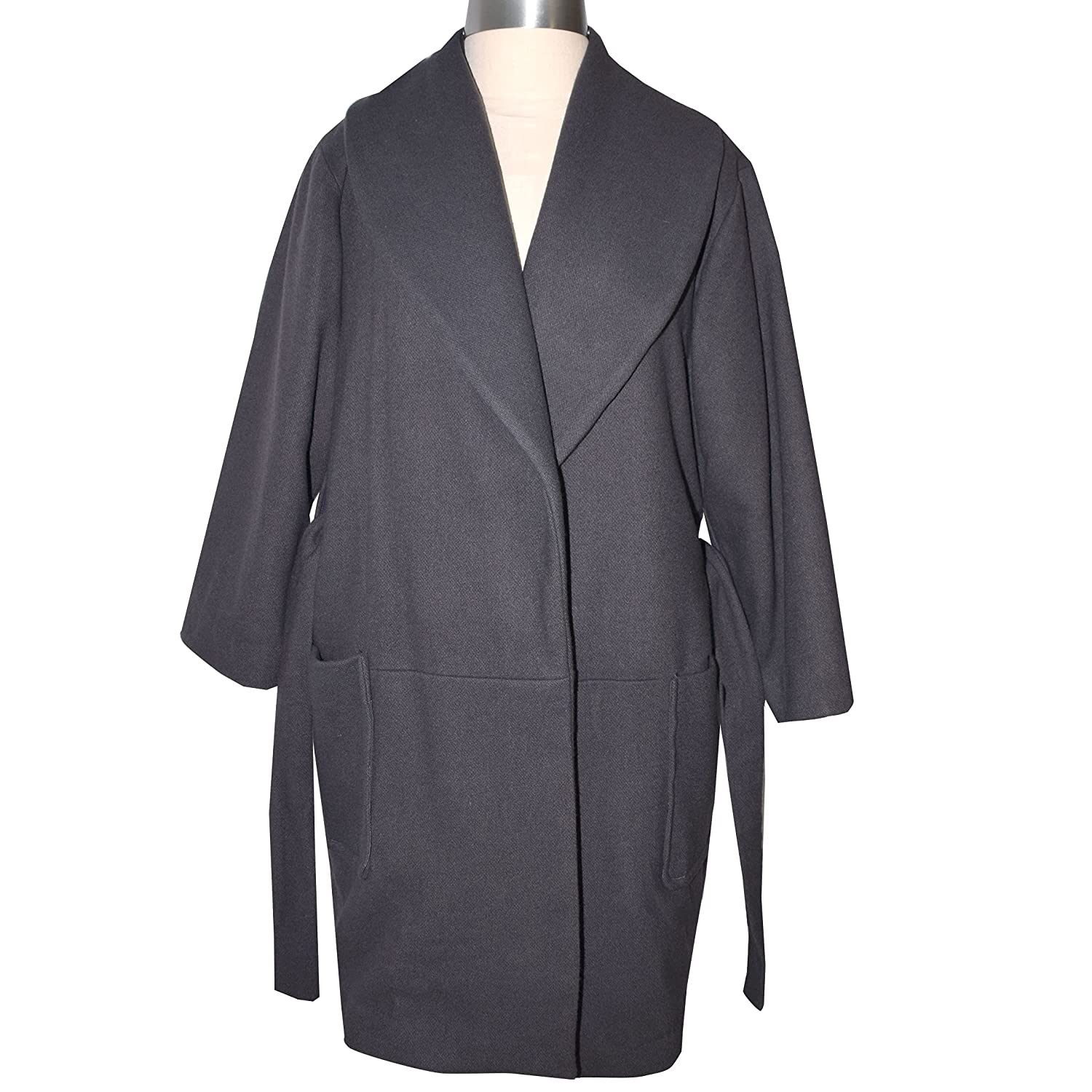 One ! Super beauty product restock quality top! of a Kind Grey Camelhair Blend Full Wool Coat Length High quality