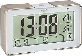 TFA Dostmann Melody - Radio-Despertador con Diferentes Sonidos, Fabricado en plástico, con Unas Medidas de 14x4x8cm, ...