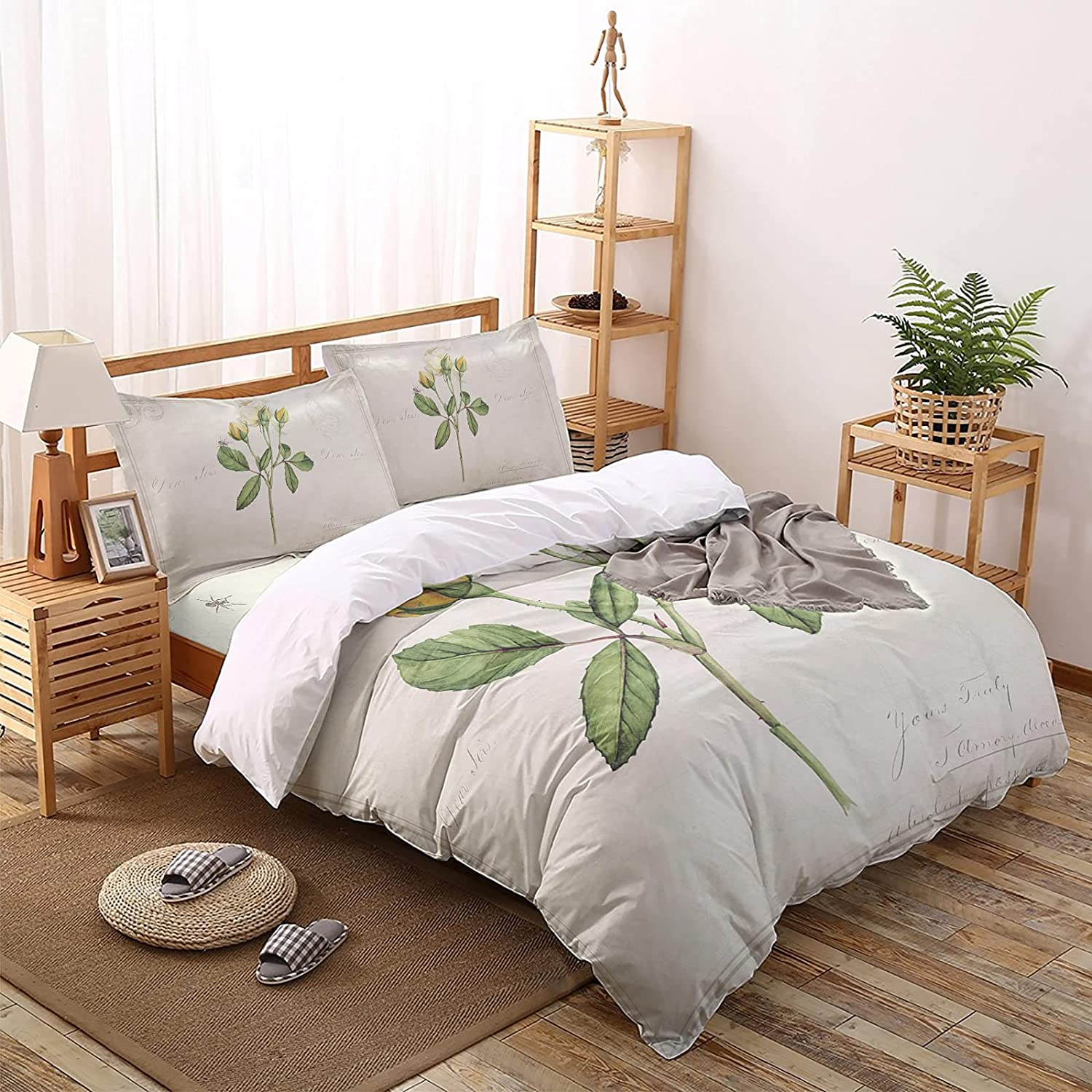 MuswannaA 4 Pieces Duvet Fort Worth Mall Cover Luxury Soft R Very popular Set Bedding Elegant