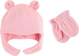Baby Fleece Bear Hat and Mitten Set