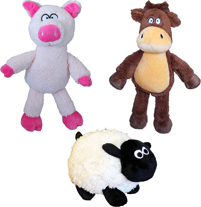 National products Petsport 3 Barnyard Plush Dog Toy Polly Sheep Sheldon Bundle: P Popular products