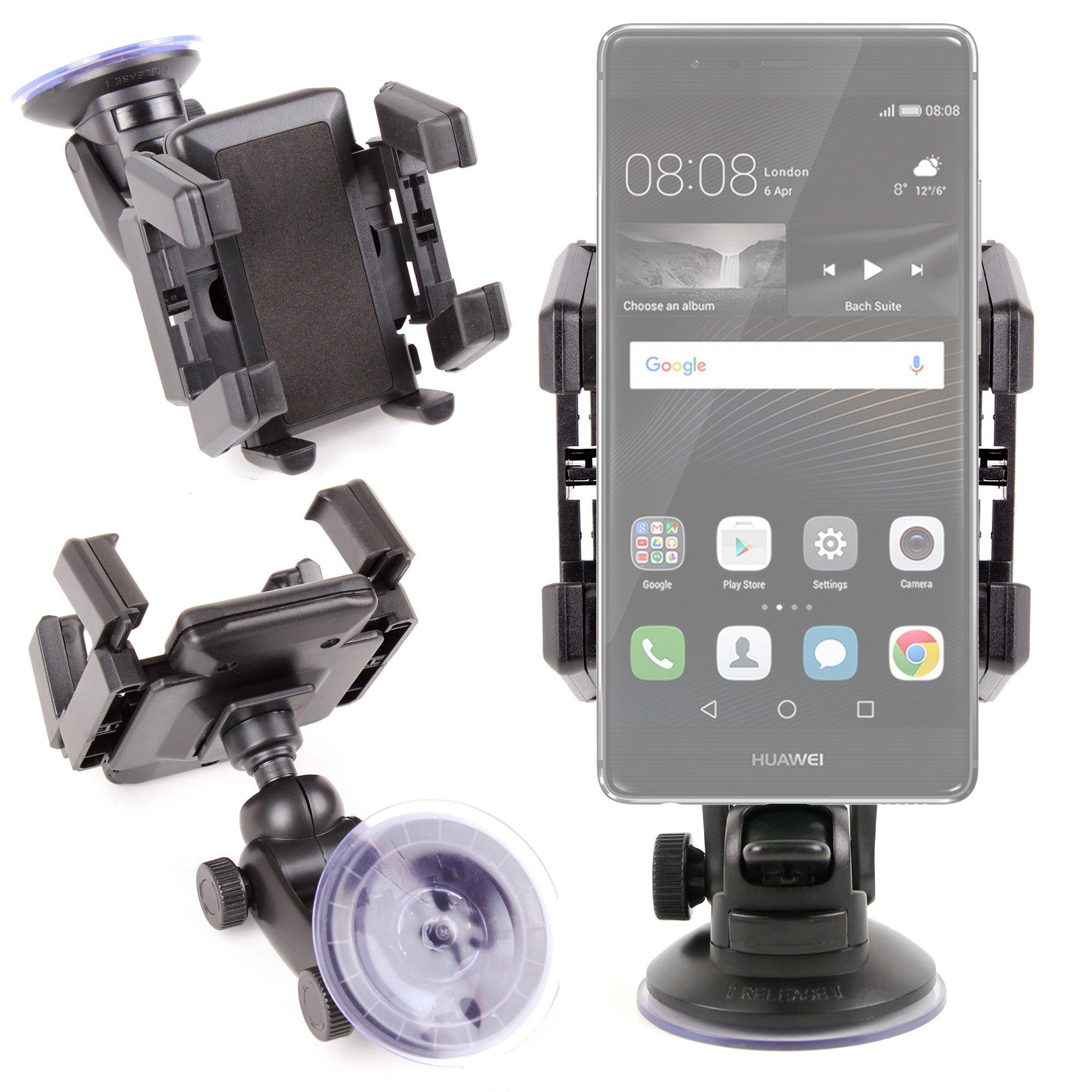 DURAGADGET Soporte con Abrazaderas para Smartphone Huawei P9 / P9 Plus / P9 Lite: Amazon.es: Electrónica