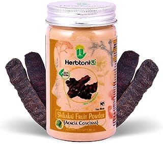 HerbtoniQ 100% Natural Shikakai Fruit Powder (Acacia Concinna) 125g For Hair Pack (125 g)